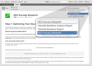 seo spyglass reports